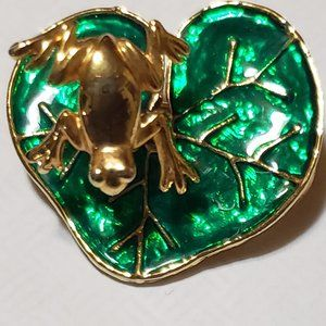 4 For $20 Frog On Lily Pad Brooch/Small